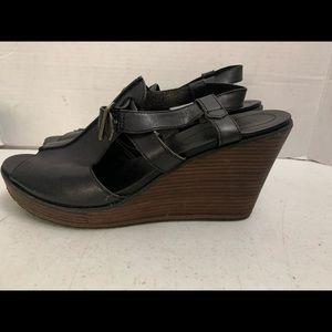 Timberland wedge sandals black leather sandal 11